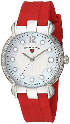 スイスレジェンド 腕時計 レディース 【送料無料】Swiss Legend Women's Layla Stainless Steel Swiss-Quartz Watch with Silicone Strap, red, 16 (Model: 16591SM-02-RDS)スイスレジェンド 腕時計 レディース