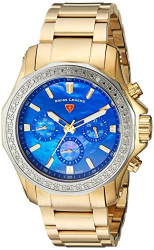 スイスレジェンド 腕時計 レディース 【送料無料】Swiss Legend Women's Islander Swiss-Quartz Watch with Stainless-Steel Strap, Gold, 20 (Model: 16201SM-YG-33-SB)スイスレジェンド 腕時計 レディース