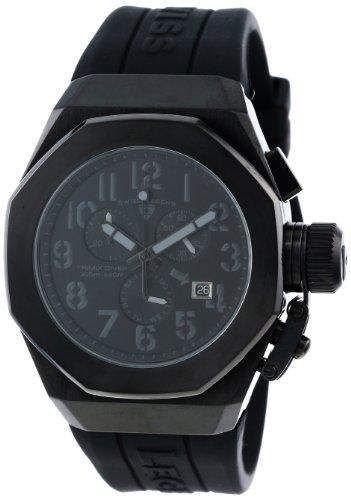 スイスレジェンド 腕時計 メンズ Swiss Legend Men's 10542-BB-01-GRYA Trimix Diver Chronograph Black Dial Black Silicone Watchスイスレジェンド 腕時計 メンズ