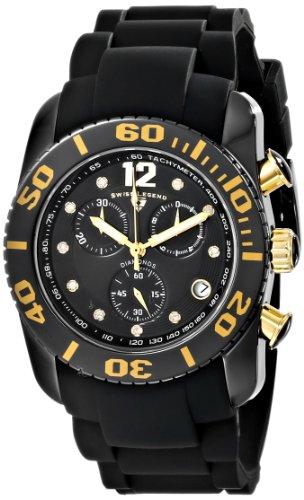 スイスレジェンド 腕時計 メンズ Swiss Legend Men's 10127-01-GA Commander Diamonds Analog Display Swiss Quartz Black Watchスイスレジェンド 腕時計 メンズ