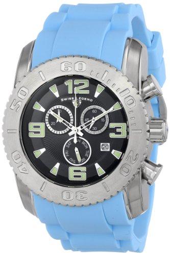 スイスレジェンド 腕時計 メンズ Swiss Legend Men's 10067-01-BBLS Commander Analog Display Swiss Quartz Blue Watchスイスレジェンド 腕時計 メンズ