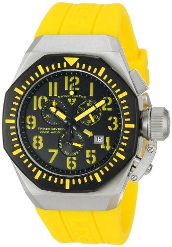 腕時計 スイスレジェンド メンズ 【送料無料】Swiss Legend Men's 10540-01-BB-YA Trimix Diver Chronograph Black Dial Yellow Silicone Watch腕時計 スイスレジェンド メンズ