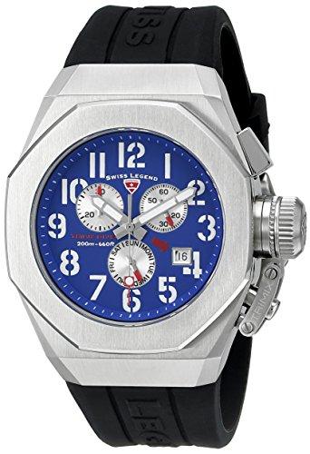 腕時計 スイスレジェンド メンズ 【送料無料】Swiss Legend Men's 10542-03 Trimix Diver Analog Display Swiss Quartz Black Watch腕時計 スイスレジェンド メンズ