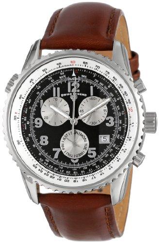 スイスレジェンド 腕時計 メンズ Swiss Legend Men's 30721-01-BRW Skyline Chronograph Brown Dial Brown Leather Band Watchスイスレジェンド 腕時計 メンズ