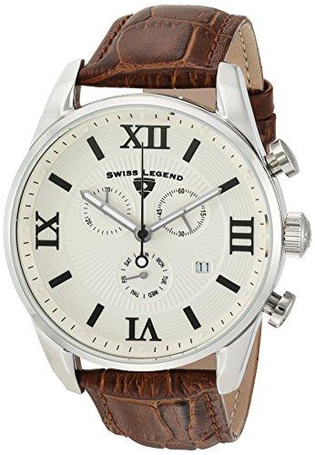 スイスレジェンド 腕時計 メンズ Swiss Legend Men's Bellezza Stainless Steel Swiss-Quartz Watch with Leather Calfskin Strap, Brown, 21 (Model: 22011-02S-BRN)スイスレジェンド 腕時計 メンズ