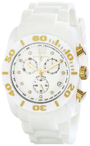 スイスレジェンド 腕時計 メンズ Swiss Legend Men's 10127-02-GA Commander Diamonds Analog Display Swiss Quartz White Watchスイスレジェンド 腕時計 メンズ