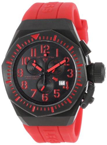 腕時計 スイスレジェンド メンズ 【送料無料】Swiss Legend Men's 10540-BB-01-RDAS Trimix Diver Chronograph Black Dial Red Silicone Watch腕時計 スイスレジェンド メンズ
