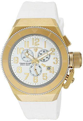 スイスレジェンド 腕時計 メンズ Swiss Legend Men's 'Trimix Diver' Swiss Quartz Stainless Steel Casual Watch (Model: 13844-YG-02-GA)スイスレジェンド 腕時計 メンズ