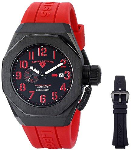 スイスレジェンド 腕時計 メンズ 【送料無料】Swiss Legend 10542A-BB-01-RDAS Trimix Diver Analog Display Swiss Automatic Black/Red Watchスイスレジェンド 腕時計 メンズ