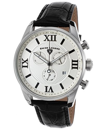 スイスレジェンド 腕時計 メンズ Swiss Legend Men's Bellezza Stainless Steel Swiss-Quartz Watch with Leather Calfskin Strap, Black, 21 (Model: 22011-02S-BLK)スイスレジェンド 腕時計 メンズ