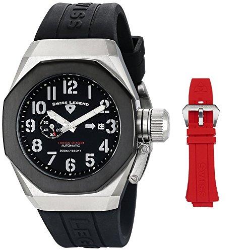 スイスレジェンド 腕時計 メンズ 【送料無料】Swiss Legend Men's 10542A-01-BB Trimix Diver Analog Display Swiss Automatic Black Watchスイスレジェンド 腕時計 メンズ