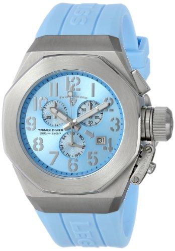 腕時計 スイスレジェンド メンズ 【送料無料】Swiss Legend Men's 10542-012-BBL Trimix Diver Chronograph Light Blue Dial Light Blue Silicone Watch腕時計 スイスレジェンド メンズ