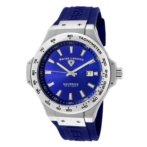 スイスレジェンド 腕時計 メンズ 【送料無料】Swiss Legend Maverick 40052-03 46mm Stainless Steel Case Blue Rubber Sapphire Crystal Men's Watchスイスレジェンド 腕時計 メンズ