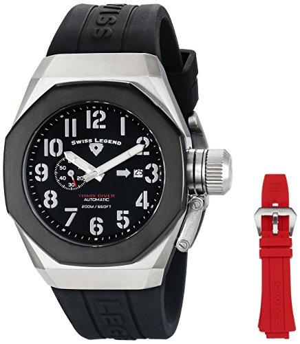 スイスレジェンド 腕時計 メンズ 【送料無料】Swiss Legend Men's 10542A-01-BB-W Trimix Diver Analog Display Swiss Automatic Black Watchスイスレジェンド 腕時計 メンズ