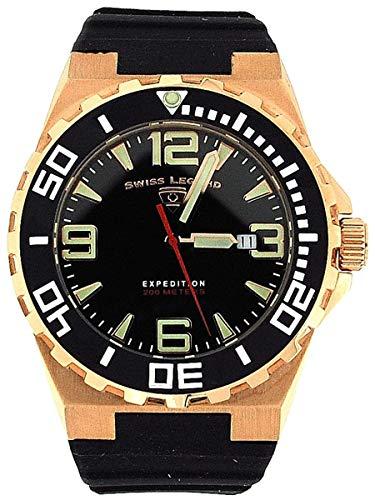 スイスレジェンド 腕時計 メンズ 【送料無料】Swiss Legend Gents Expedition Date Black Rubber Strap Watch SL-10008-01-BBスイスレジェンド 腕時計 メンズ