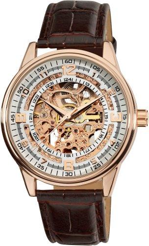 アクリボスXXIV 腕時計 メンズ Akribos Automatic Skeleton Mechanical Men's Watch -