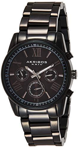 アクリボスXXIV 腕時計 メンズ Akribos Multifunction Stainless Steel Chronograph Watch - 3 Sub-Dials Complications Quartz - Men's Heavy Bracelet Watch - AK904アクリボスXXIV 腕時計 メンズ