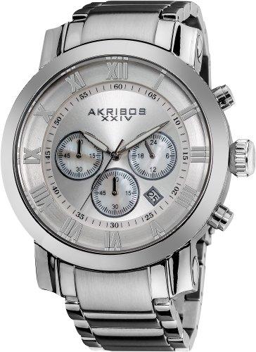 アクリボスXXIV 腕時計 メンズ 【送料無料】Akribos XXIV Men's AK622SS Grandiose Stainless Steel Bracelet WatchアクリボスXXIV 腕時計 メンズ