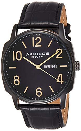 アクリボスXXIV 腕時計 メンズ 【送料無料】Akribos XXIV Men's 2 Watch Set - 1 Multifunction Watch On Mesh Stainless Steel Bracelet and 1 Classic Everyday Watch On Genuine Leather - AK885アクリボスXXIV 腕時計 メンズ