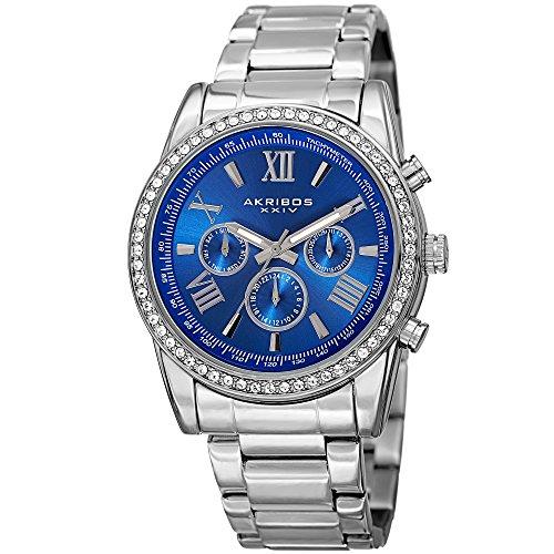 アクリボスXXIV 腕時計 メンズ 【送料無料】Akribos XXIV Enterprise Mens Casual Watch - Sunburst Effect Dial - Quartz Movement - Diamond - Stainless Steel Strap - Blue SilverアクリボスXXIV 腕時計 メンズ