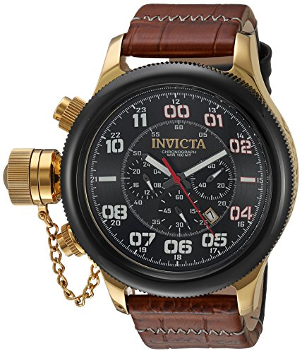 インヴィクタ インビクタ 腕時計 メンズ Invicta Men's Russian Diver Stainless Steel Quartz Watch with Leather-Calfskin Strap, Brown, 26 (Model: 22291)インヴィクタ インビクタ 腕時計 メンズ