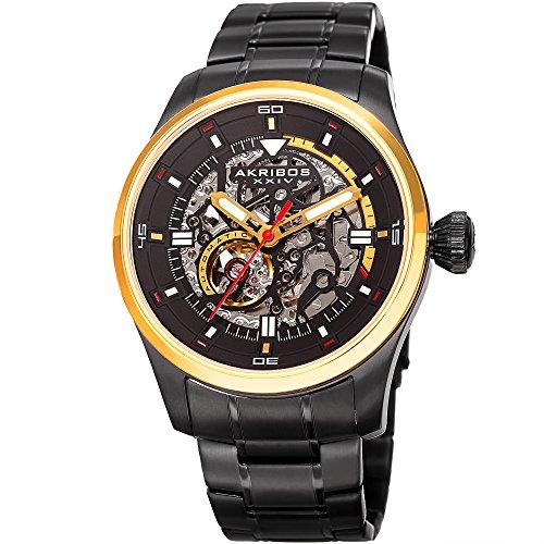 アクリボスXXIV 腕時計 メンズ Akribos XXIV Men's Quartz Watch with Stainless-Steel Strap, Black, 24 (Model: AK970BKG)アクリボスXXIV 腕時計 メンズ