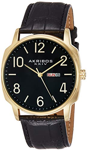 アクリボスXXIV 腕時計 メンズ 【送料無料】Akribos XXIV Men's 2 Watch Set - 1 Multifunction Watch On Mesh Stainless Steel Bracelet and 1 Classic Everyday Watch On Genuine Leather - AK885アクリボスXXIV 腕時計 メンズ