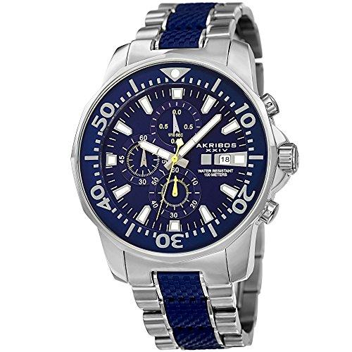 アクリボスXXIV 腕時計 メンズ Akribos XXIV Extremis Mens Casual Watch - Dodecagonal Dial - Three Hand Quartz - Stainless Steel Strap - Blue SilverアクリボスXXIV 腕時計 メンズ