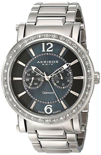 アクリボスXXIV 腕時計 メンズ Akribos XXIV Men's AKR465SS Ultimate Stainless Steel Swiss Day and Date Diamond WatchアクリボスXXIV 腕時計 メンズ