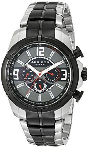 アクリボスXXIV 腕時計 メンズ 【送料無料】Akribos XXIV Men's Multifunction Watch - 3 Multifunction Subdials feature Date, Day and Dual Time Zone On Stainless Steel Bracelet - AK832アクリボスXXIV 腕時計 メンズ