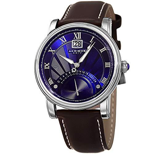 アクリボスXXIV 腕時計 メンズ Akribos XXIV Men's Casual Quartz Watch - Blue Sunburst Dial - Featuring a Brown Leather Strap - [ AKN913SSBU ]アクリボスXXIV 腕時計 メンズ