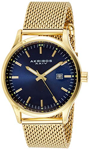 アクリボスXXIV 腕時計 メンズ 【送料無料】Akribos Multifunction Chronograph Men's Watch - 3 Sub-Dials Complications With Date Window On Mesh Bracelet Watch - AK901アクリボスXXIV 腕時計 メンズ