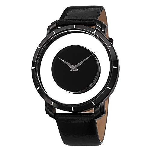 アクリボスXXIV 腕時計 メンズ 【送料無料】Akribos XXIV Spacely Floating Watch - Shatter-Proof Krysterna Crystal Black Quartz Men's Watch - AK412アクリボスXXIV 腕時計 メンズ