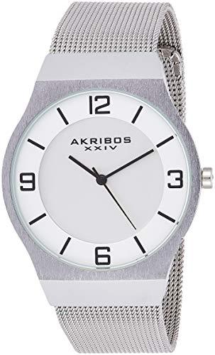 アクリボスXXIV 腕時計 メンズ 【送料無料】Akribos XXIV Omni Mens Casual Watch - Brushed Center Dial - Japanese Quartz - Stainless Steel Mesh Strap - AK851アクリボスXXIV 腕時計 メンズ