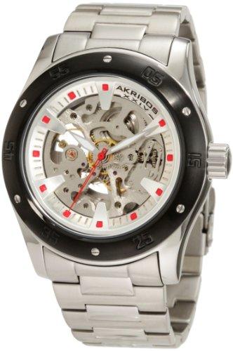 アクリボスXXIV 腕時計 メンズ Akribos XXIV Men's AKR477BK Round Skeleton Automatic Bracelet WatchアクリボスXXIV 腕時計 メンズ