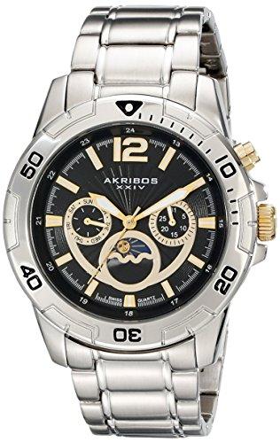 アクリボスXXIV 腕時計 メンズ 【送料無料】Akribos XXIV Men's AK574SS Conqueror Swiss Quartz Divers Multi-function WatchアクリボスXXIV 腕時計 メンズ