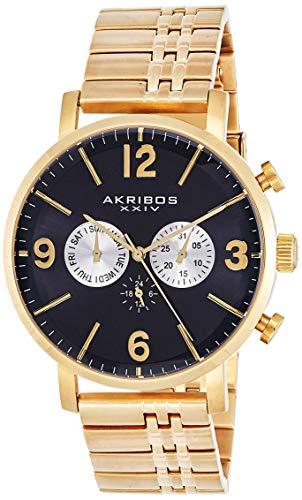 アクリボスXXIV 腕時計 メンズ 【送料無料】Akribos XXIV Men's Multifunction Swiss Watch - 3 Subdials Day, Date and GMT On Stainless Steel Bracelet - AK782アクリボスXXIV 腕時計 メンズ