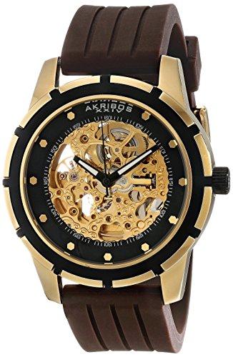 アクリボスXXIV 腕時計 メンズ 【送料無料】Akribos XXIV Men's AKR444YG Premier Delos Automatic Skeleton Gold WatchアクリボスXXIV 腕時計 メンズ