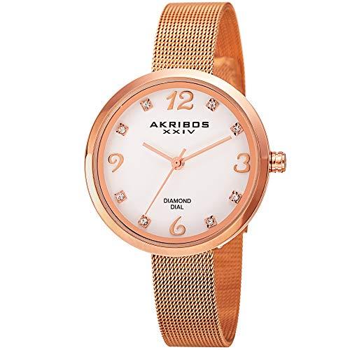 アクリボスXXIV 腕時計 レディース Akribos XXIV Women's AK875RG Mother of Pearl Three Hand Watch With Rose Gold-Tone BraceletアクリボスXXIV 腕時計 レディース