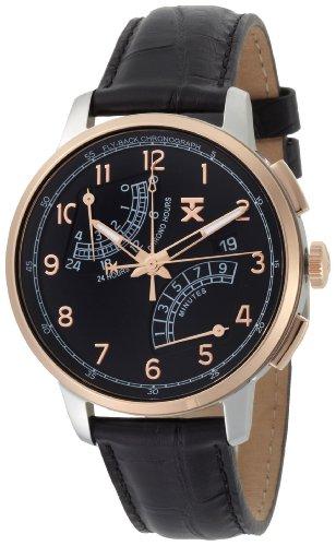 タイメックス 腕時計 メンズ T3C196 TX Men's T3C196 Classic Fly-Back Chronograph Two-Tone Black Leather Strap Watchタイメックス 腕時計 メンズ T3C196