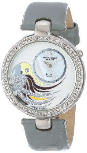アクリボスXXIV 腕時計 レディース Akribos XXIV Women's AK602GY Lady Diamond Parrot Dial Swiss Quartz Leather Strap WatchアクリボスXXIV 腕時計 レディース