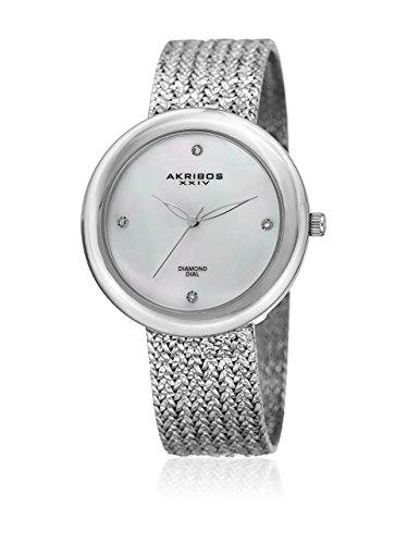 アクリボスXXIV 腕時計 レディース Akribos XXIV Women's Quartz Watch with Stainless-Steel Strap, Silver, 18 (Model: AK903SS)アクリボスXXIV 腕時計 レディース