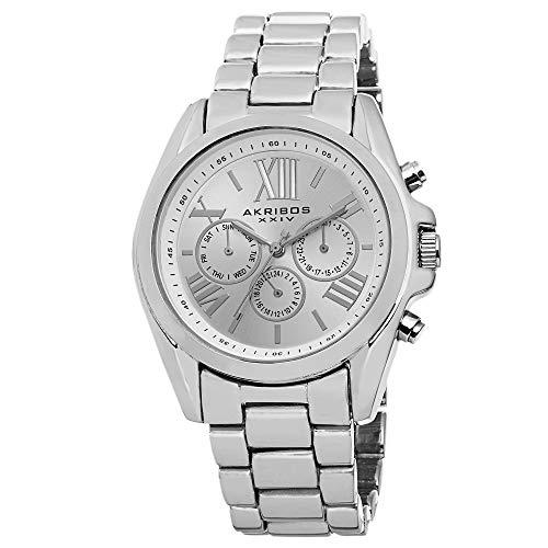 アクリボスXXIV 腕時計 レディース Akribos XXIV Women's AK693SS Ultimate Swiss Quartz Multifunction Silver-tone Bracelet WatchアクリボスXXIV 腕時計 レディース