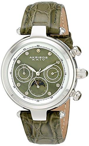 アクリボスXXIV 腕時計 レディース Akribos XXIV Women's AK441GN Classic Diamond Automatic Green Dial WatchアクリボスXXIV 腕時計 レディース