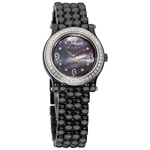 アクリボスXXIV 腕時計 レディース Akribos XXIV Women's AK504BK Ceramic with Diamond Accents and Fully Ceramic Bracelet WatchアクリボスXXIV 腕時計 レディース