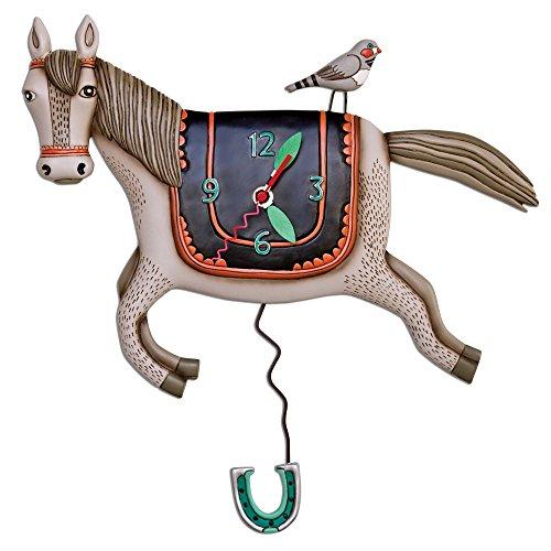 壁掛け時計 振り子時計 インテリア 海外モデル アメリカ Allen Designs Woah Horse Pendulum Clock壁掛け時計 振り子時計 インテリア 海外モデル アメリカ