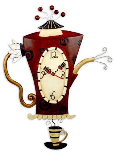 壁掛け時計 振り子時計 インテリア 海外モデル アメリカ Allen Studio Designs Steamin' Tea Clock壁掛け時計 振り子時計 インテリア 海外モデル アメリカ