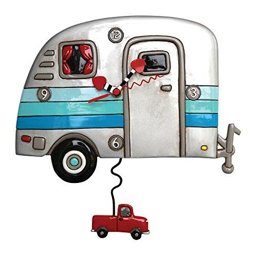 壁掛け時計 振り子時計 インテリア 海外モデル アメリカ 【送料無料】Allen Designs Happy Campers Pendulum Clock壁掛け時計 振り子時計 インテリア 海外モデル アメリカ