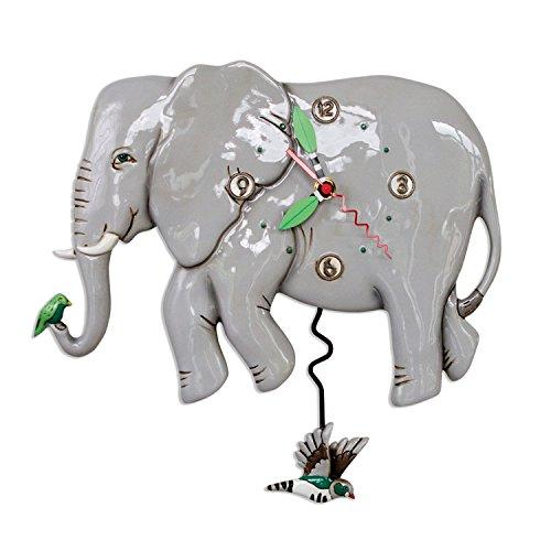 壁掛け時計 振り子時計 インテリア 海外モデル アメリカ 【送料無料】Allen Designs P1860 Swinging Pendulum Elephant Clock Elephante壁掛け時計 振り子時計 インテリア 海外モデル アメリカ