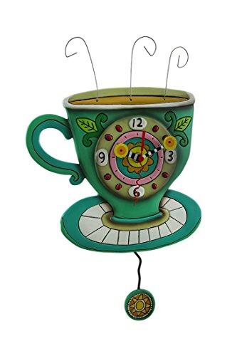 壁掛け時計 振り子時計 インテリア 海外モデル アメリカ 【送料無料】Allen Designs Sunny Cup of Coffee Pendulum Wall Clock壁掛け時計 振り子時計 インテリア 海外モデル アメリカ
